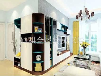 石家庄城南春天板式家具定制电视柜图片